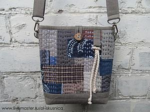 Мастер-класс: шьем сумочку в стиле «боро». Ярмарка Мастеров - ручная работа, handmade.