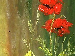 МАК-цветок огня .(гуашь в масляной технике) | Ярмарка Мастеров - ручная работа, handmade