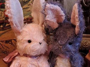 Два зайчика тедди за 4000 | Ярмарка Мастеров - ручная работа, handmade