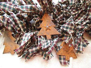 Рождественский декор из лосткутиков и тряпочек! | Ярмарка Мастеров - ручная работа, handmade