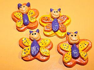 Бабочки-улыбки | Ярмарка Мастеров - ручная работа, handmade
