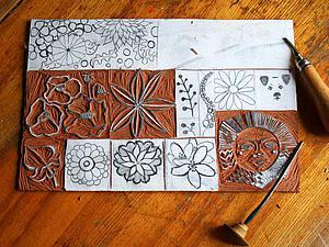 Делаем простые закладочки с помощью штампов. Ярмарка Мастеров - ручная работа, handmade.