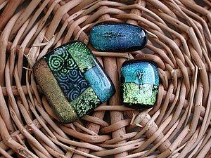 Стеклянные украшения - фьюзинг в микроволновке | Ярмарка Мастеров - ручная работа, handmade