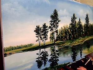 Пишем пейзаж масляными красками. Ярмарка Мастеров - ручная работа, handmade.