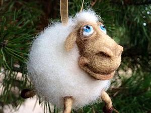 Мастер-класс по валянию овечки к Новому году. Ярмарка Мастеров - ручная работа, handmade.