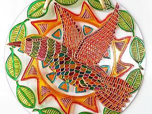 """Создание витражного Ловца солнца """"Птица"""". Ярмарка Мастеров - ручная работа, handmade."""
