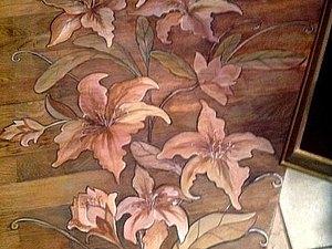 Роспись паркета (художественный паркет). Ярмарка Мастеров - ручная работа, handmade.