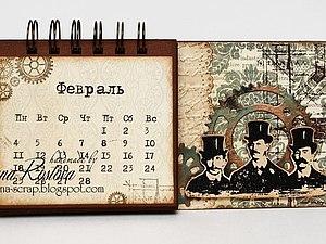 Скрапбукинг. Мужской календарь | Ярмарка Мастеров - ручная работа, handmade