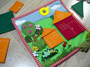 Делаем страничку развивающей книжки «Строим домики» | Ярмарка Мастеров - ручная работа, handmade