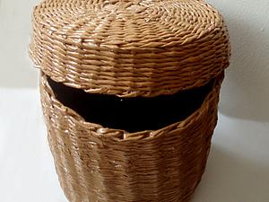 Плетеный короб с крышкой | Ярмарка Мастеров - ручная работа, handmade