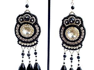 Любимое украшение всех модниц - длинные серьги | Ярмарка Мастеров - ручная работа, handmade