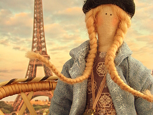 """Шьём очаровательную куклу тильду """"Парижанка"""". Ярмарка Мастеров - ручная работа, handmade."""