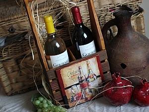 Браширование  «Подставка под вино или масло» | Ярмарка Мастеров - ручная работа, handmade