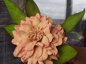 Цветы из фоамирана - часть 1 Георгин. Ярмарка Мастеров - ручная работа, handmade.