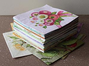 Салфетки в подарок к 8 Марта от Алины! Присоединяйтесь к розыгрышу!   Ярмарка Мастеров - ручная работа, handmade