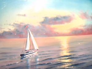 Пишем морской пейзаж. Ярмарка Мастеров - ручная работа, handmade.