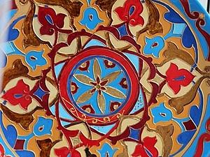Декорируем блюдо в стиле «Марракеш»: витражная роспись | Ярмарка Мастеров - ручная работа, handmade