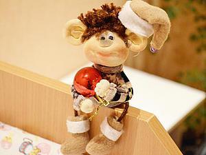 Видеоурок: миниатюрная обезьянка в чулочной технике. Ярмарка Мастеров - ручная работа, handmade.