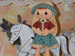 Текстильный зайчик Малыш | Ярмарка Мастеров - ручная работа, handmade