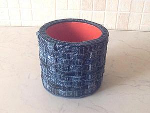 Как сделать брутальный стаканчик из джинсы. Ярмарка Мастеров - ручная работа, handmade.