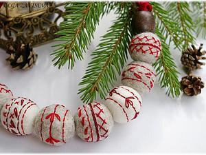 Новогодний конкурс коллекций! Приз - зимние бусы с вышивкой!   Ярмарка Мастеров - ручная работа, handmade