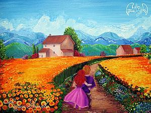 аукцион на яркие , летние картины . | Ярмарка Мастеров - ручная работа, handmade