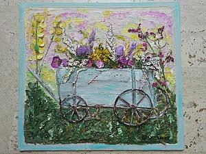 Тележка с цветами! | Ярмарка Мастеров - ручная работа, handmade