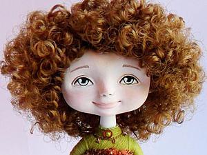 Мастер-класс по созданию сувенирной куколки, новая версия. Приклеиваем волосы. | Ярмарка Мастеров - ручная работа, handmade