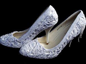 Вяжем нарядные туфли к свадьбе. Ярмарка Мастеров - ручная работа, handmade.