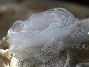 Фотоотчет для Лолиты. Часть 2: белая брошь цветок   Ярмарка Мастеров - ручная работа, handmade