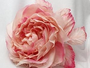Цветы из ткани.Мастер-класс.Роза Орнелла. | Ярмарка Мастеров - ручная работа, handmade