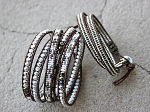 Создаем браслет-намотку из чешских граненых бусин и японского бисера. Ярмарка Мастеров - ручная работа, handmade.