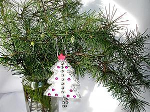 Ёлочка на ёлку: делаем простое новогоднее украшение из войлока. Ярмарка Мастеров - ручная работа, handmade.