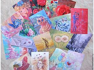 Авторские открытки.Картины.Индивидуальный набор. | Ярмарка Мастеров - ручная работа, handmade