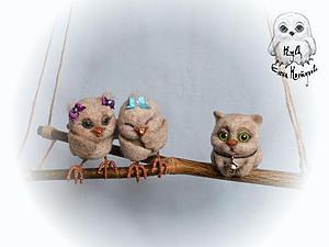 Мастер-класс по сухому валянию мини-игрушки птичка или котик ( на выбор) | Ярмарка Мастеров - ручная работа, handmade