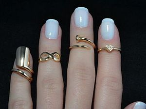 Кольца на среднюю фалангу пальчиков - Knuckle Rings | Ярмарка Мастеров - ручная работа, handmade