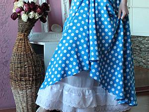 Ткани для юбочки Прелестные горошки | Ярмарка Мастеров - ручная работа, handmade