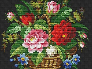 ������� ������� � �������� ��������� ����� Petit Point | ������� �������� - ������ ������, handmade