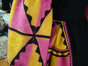 Делаем сами эксклюзивную ткань с элементами геометрического орнамента | Ярмарка Мастеров - ручная работа, handmade