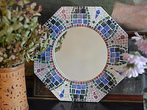 Мозаика. Декор зеркала в рамочке. | Ярмарка Мастеров - ручная работа, handmade