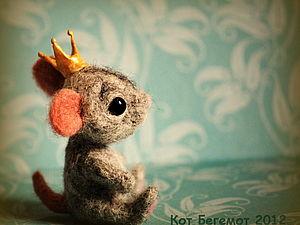 Валяем маленького мышонка   Ярмарка Мастеров - ручная работа, handmade