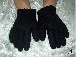 Валяние: Перчатки для любимого мужчины | Ярмарка Мастеров - ручная работа, handmade