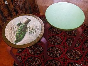 Переделка табуретки: Декупаж с объемными элементами. | Ярмарка Мастеров - ручная работа, handmade