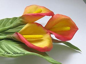 Создание простого и очень красивого цветка &#8211&#x3B; каллы из шелка. Ярмарка Мастеров - ручная работа, handmade.
