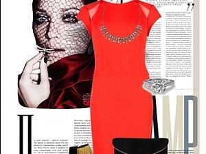 красное платье и его смысл   Ярмарка Мастеров - ручная работа, handmade