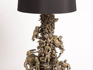 Старые игрушки . Декор лампы и зеркала | Ярмарка Мастеров - ручная работа, handmade