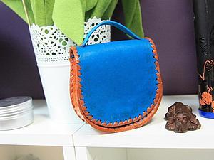 Работа с натуральной кожей: Декоративная сумочка   Ярмарка Мастеров - ручная работа, handmade