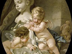 Милые амуры эпохи рококо художника Франсуа Буше. Ярмарка Мастеров - ручная работа, handmade.