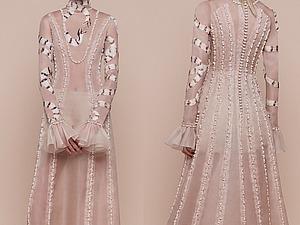 Лаконичный крой, нежные цвета и вышивка перьями в новой коллекции Aouadi Couture весна 2016. Ярмарка Мастеров - ручная работа, handmade.