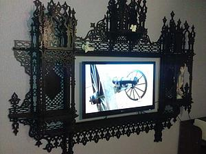 Мастерим рамку для зеркала или телевизора